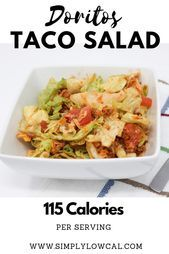 Doritos Taco Salat    Simply Low Cal | Salad Recipes | Low-Calorie Salad Recipe#design #model #dress #shoes #heels #styles #outfit #purse #jewelry #shopping #glam #love #amazing #style #swag