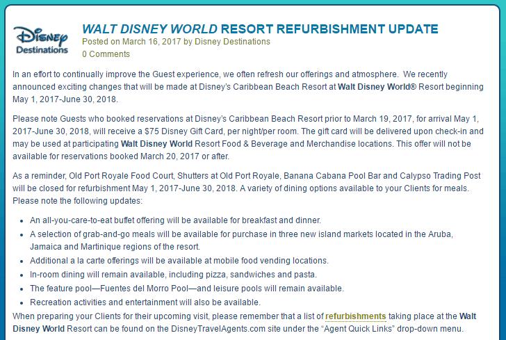Caribbean Beach Gift Card Offer Walt Disney World