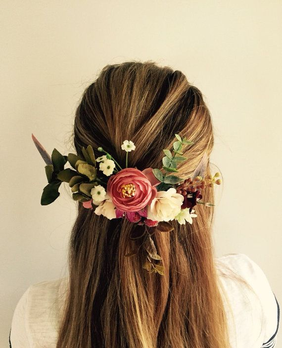 Australian native flower comb em and brett wedding pinterest stunning australian native silk flower hair comb this hair comb uses native silk flowers such as gum leaves berries and wild roses will mightylinksfo