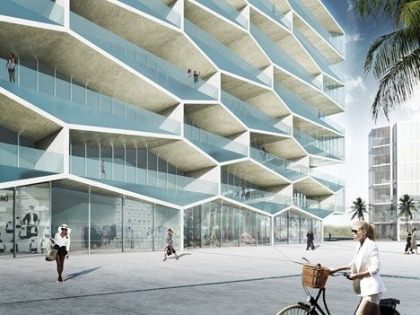 Attractive BIG Designs Honeycomb Housing Block For The Bahamas Nice Ideas