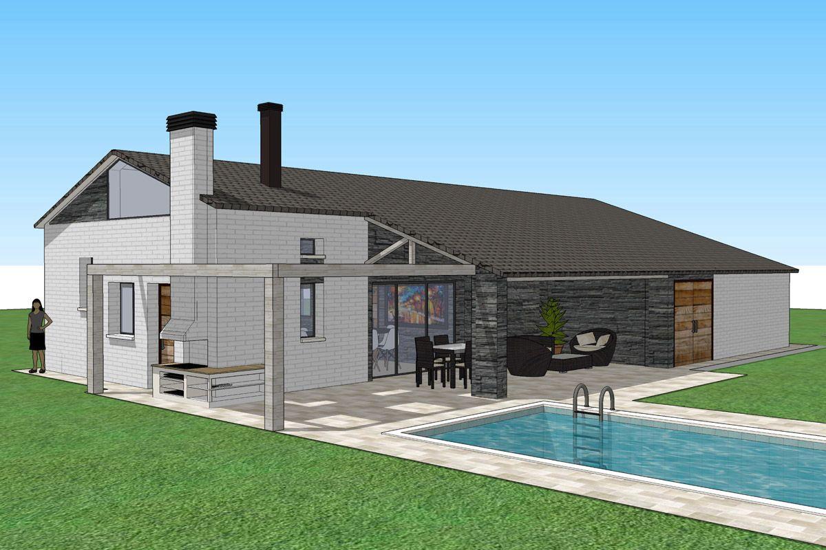 Ideas de exterior piscina porche estilo contemporaneo - Porches de casas modernas ...