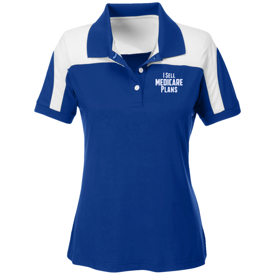 I Sell Medicare Plans Team 365 Ladies' Colorblock Polo