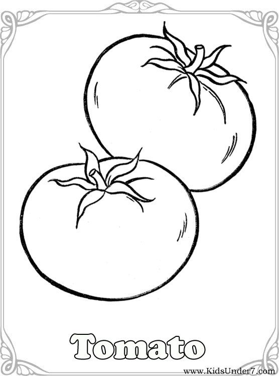 Kids Under 7 Vegetables Coloring Pages Vegetable Coloring Pages Fruit Coloring Pages Coloring Pages