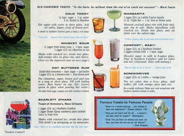 50 Madmen-era vintage drink recipes & how people would toast