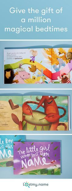Inspire your little one's sense of adventure with the world's most impossibly personalized children's story. See them smile as they gather the letters of their name from amicable imps, munching monkeys, chirruping cicadas and other colorful characters. Create their book in just a few clicks, have it delivered any-absolutely-where for free.