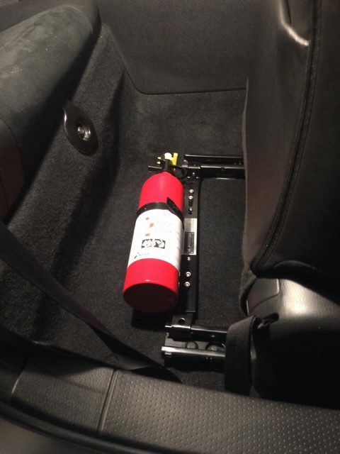 d23acaab88f The Bracketeer Universal Car Fire Extinguisher Bracket Installed in a Scion  FRS   Subaru BRZ