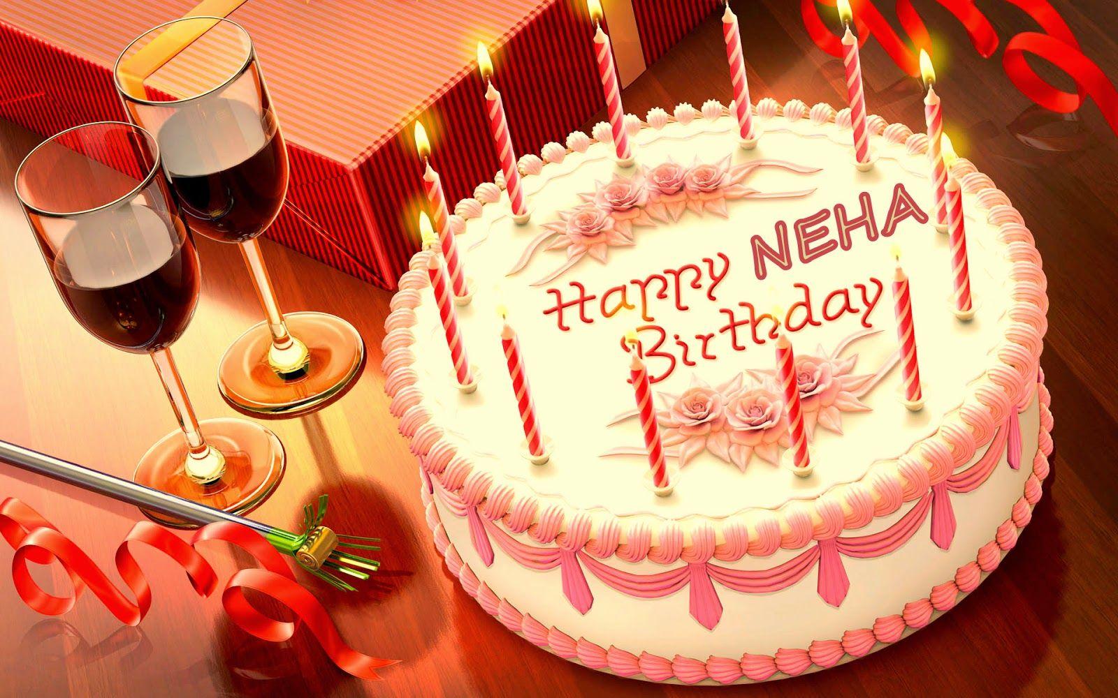 Cake Happy Birthday Neha Happy Birthday Names Pinterest Happy