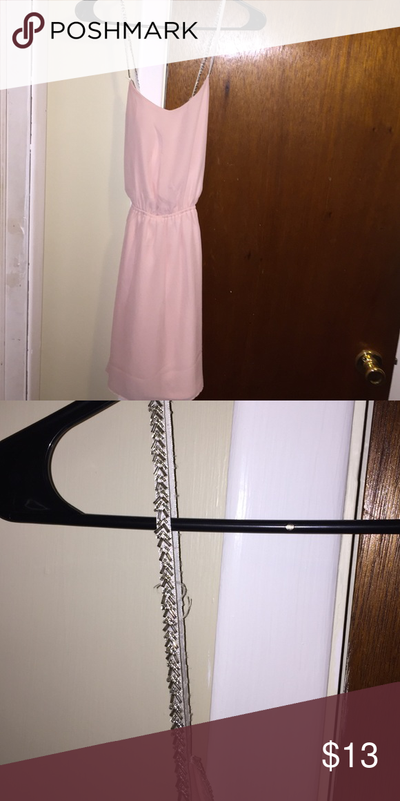 Charolette Russe Dress Charolette Russe light pink dress with sparkle beaded arrow designs pictured above, never been worn Charlotte Russe Dresses Midi