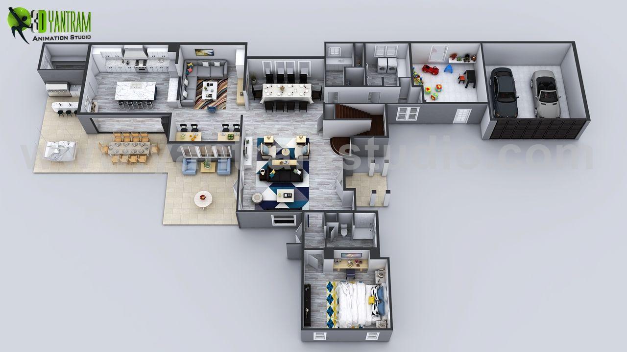 3d House Floor Plan Designs Ideas Images By Yantram Floor Plan Designer Washington Usa Floorplan Floor Plan Diagram Fl Denah Rumah Desain Rumah House