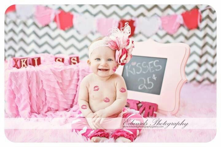 Baby\'s First Valentine\'s Day: 15 Photo Ideas for Baby   Valentines ...
