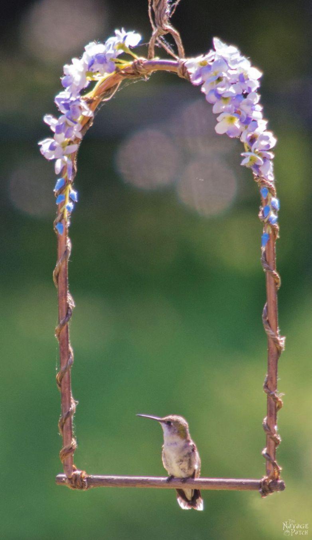 DiY Hummingbird Perch | How to make a hummingbird swing from copper ...