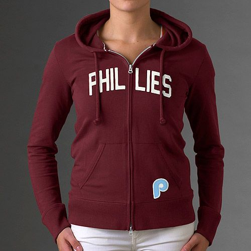Philadelphia Phillies Women S Pep Rally Full Zip Hood By 47 Brand Mlb Com Shop Nfl Outfits Chicago Cubs Womens Phillies