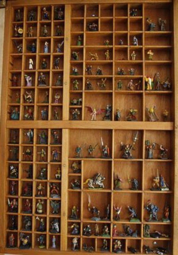 Mur de figurines