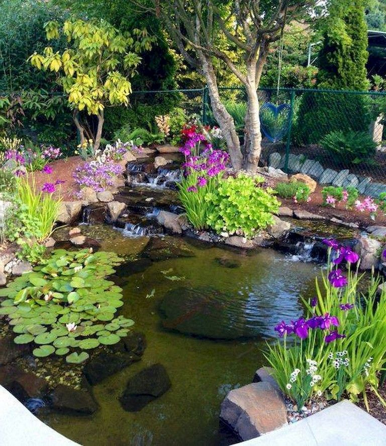 68+ Lovely Backyard Ponds And Water Garden Landscaping