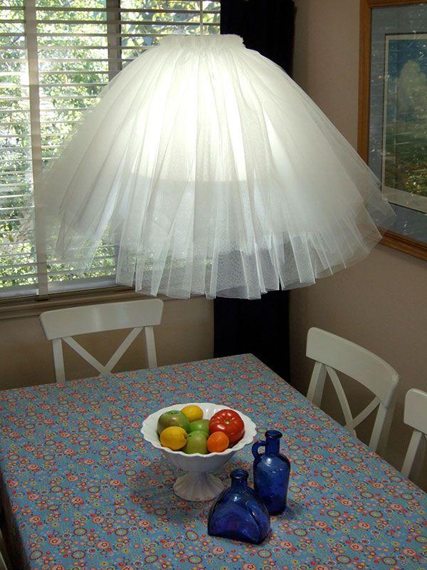 TuTu (tulle) Skirt Hanging Lamp Ballet Enthusiasts U0026 Little Girls  Everywhere! 21 · Lampshade IdeasLampshadesDiy ...