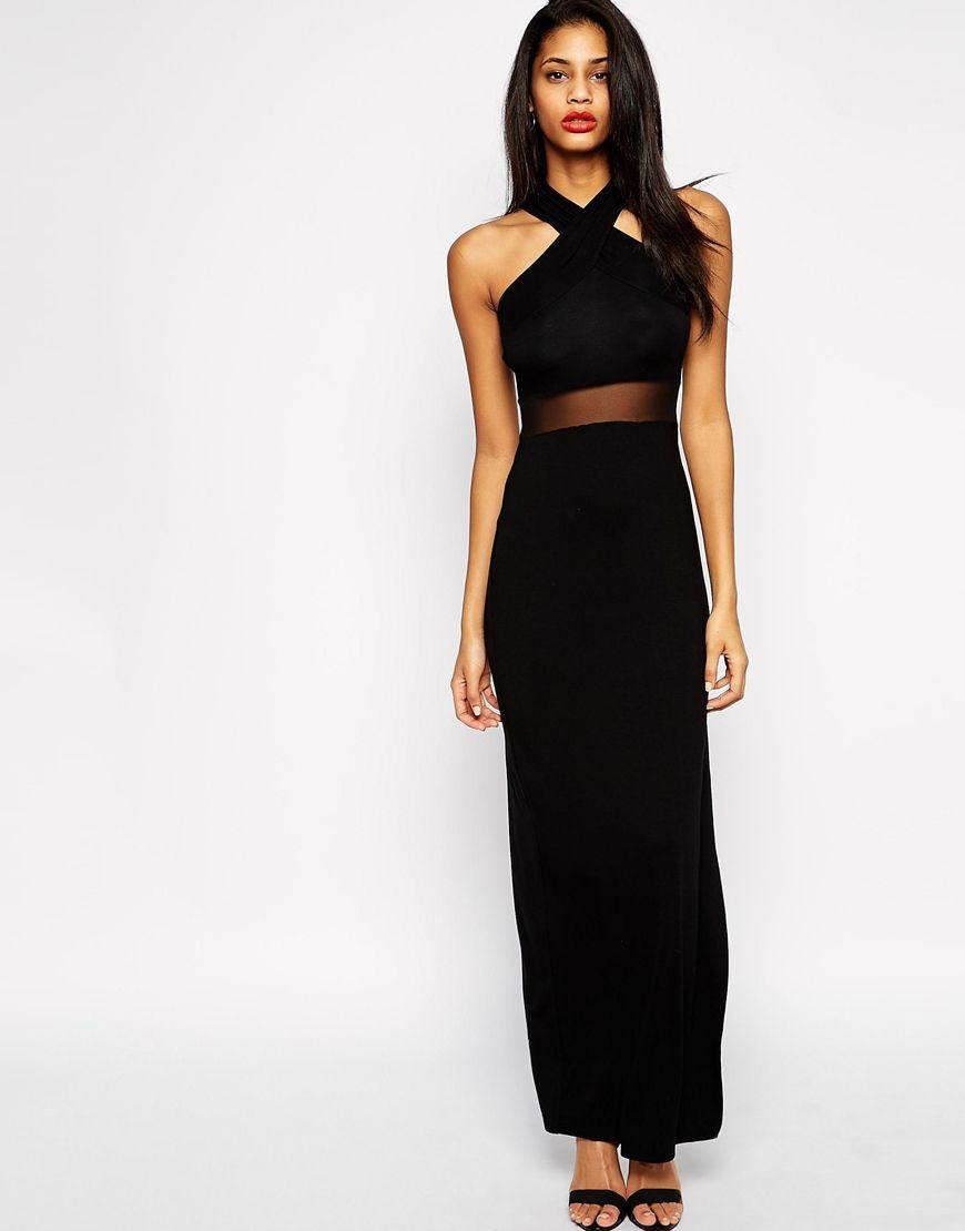 Halter neck maxi dress asos dresses