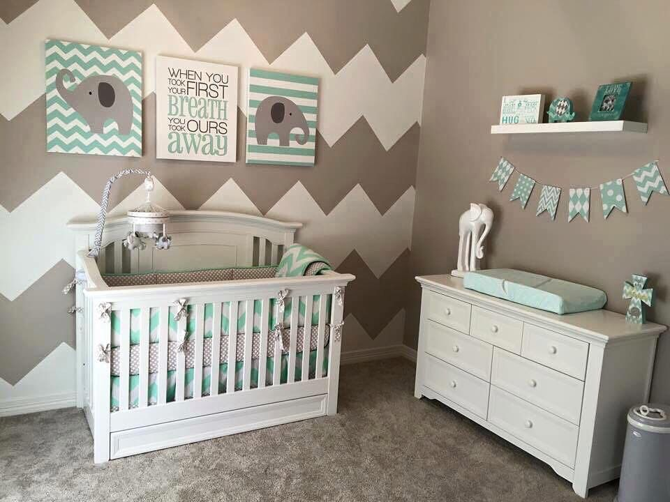 Adorable nursery idea kids rooms pinterest nursery for Baby room decor ideas unisex
