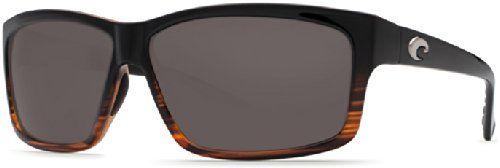 ff24677e7fb Costa Del Mar Sunglasses - Cut- Glass   Frame  Coconut Fade Lens  Polarized  Gray Wave 580 Glass