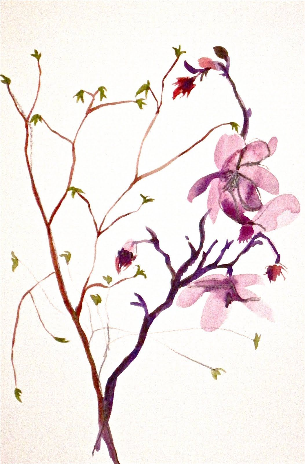 Image Gallery japanese flower painting