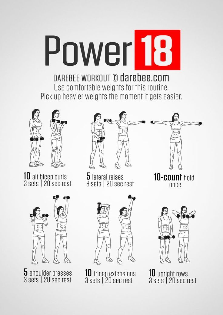 Upper Body Strength Workout in 2020 Darbee workout