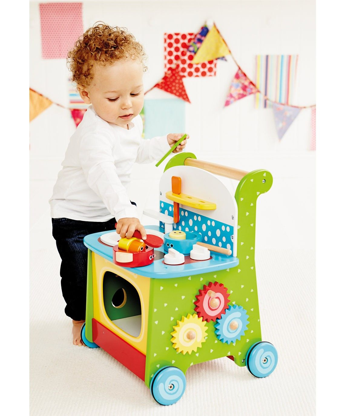 Elc Wooden Activity Kitchen Babycity Pull Along Toys Wooden Toys