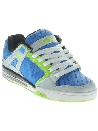 e6020bee77c Osiris Grey-Blue-Lime Pixel Shoe | Osiris Shoes | Shoes, Osiris ...