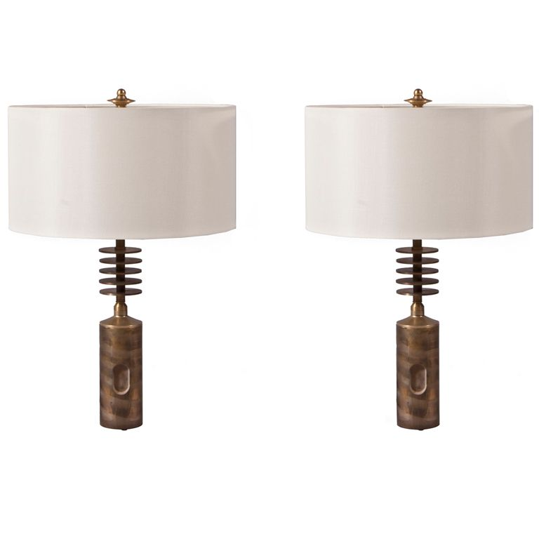 Pair Of Torino Lamps By Gianni Vallino 1stdibs Com Vintage Table Lamp Lamp Contemporary Lamps