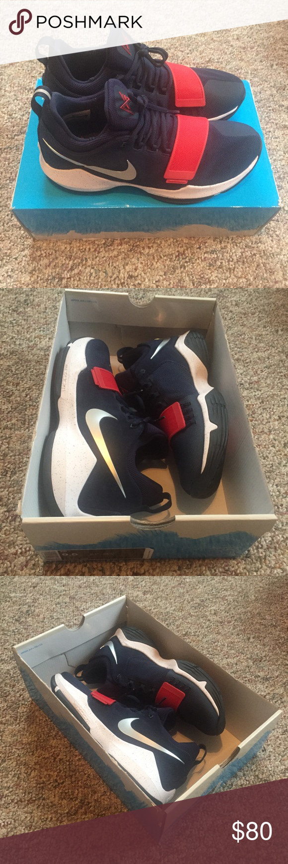 Nike PG1 USA Olympics Shoes Men's 9.5 NWB PG 1