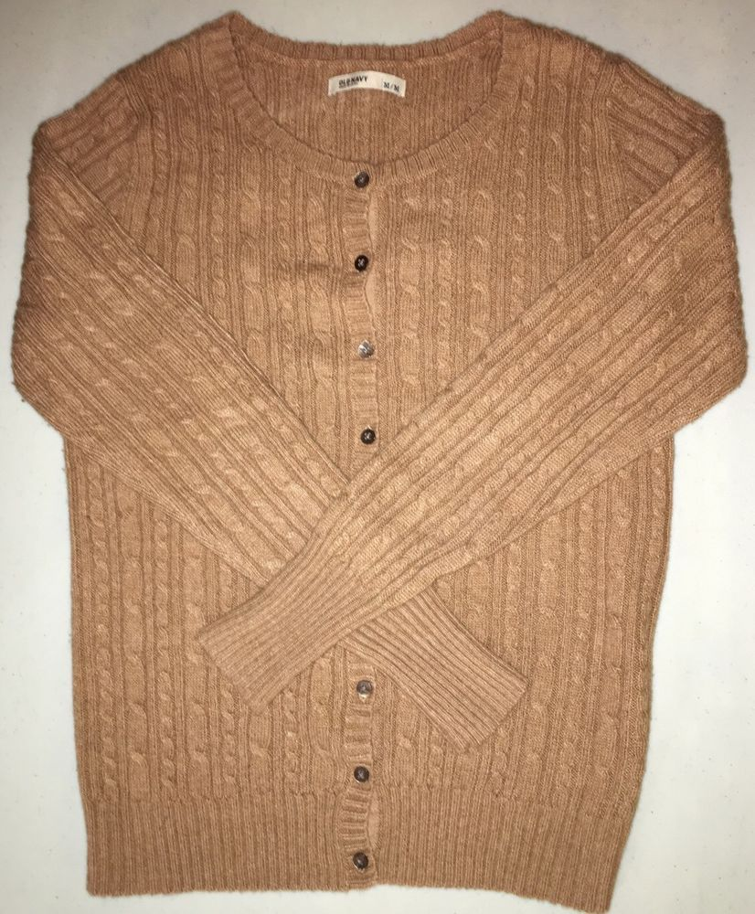 Old Navy Ladies Cardigan Sweater, Tan, Button Front, VERY Soft ...