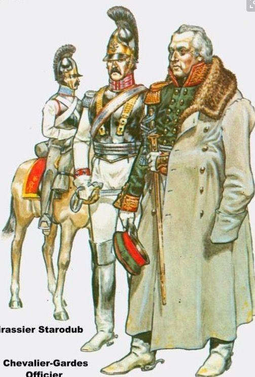 Corazziere, ufficiale della guardia imperiale e generale Koutouzov