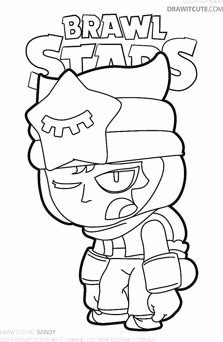 Sandy Brawl Stars Coloring Page Color For Fun In 2020 Star Coloring Pages Coloring Pages Cool Coloring Pages