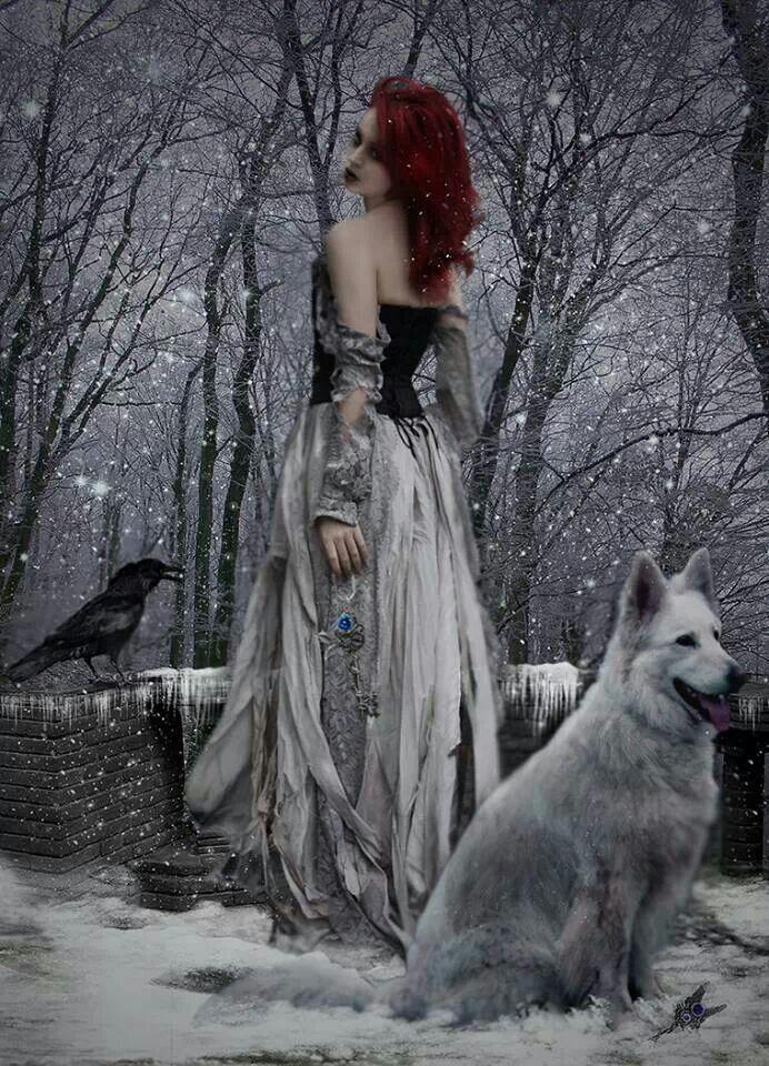 Девушка волк и ворон картинки