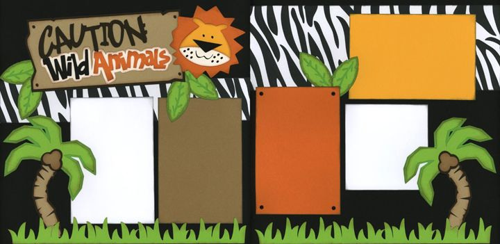 Welcome to Africa Scrapbook Page Kit