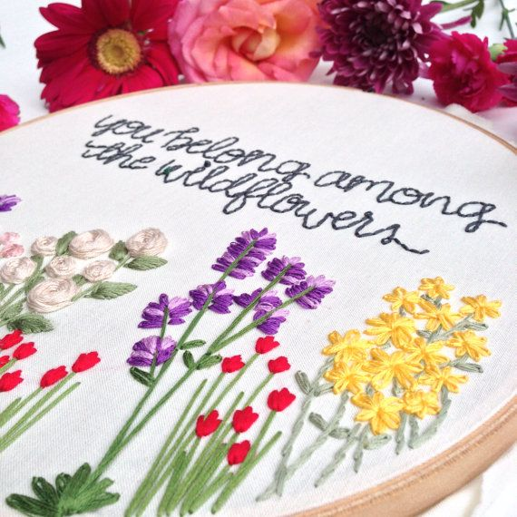 Wildflowers Hand Embroidery Pattern: Beginner Pattern, Flower ...