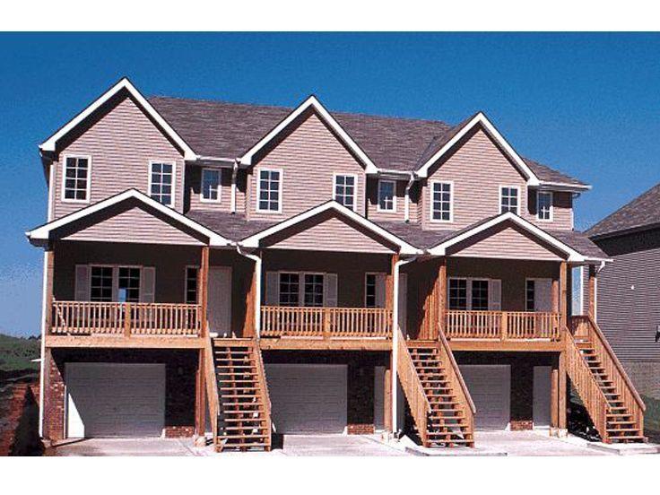 Multi Family House Plans Triplexes Amp Townhouses The House Plan Shop Family House Plans House Plans Duplex House Plans