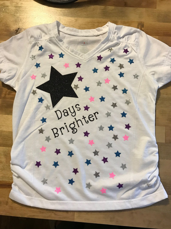 Items similar to 100 Days of School Brighter Stars T-shirt Custom on Etsy #100daysofschoolshirt