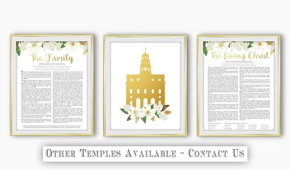 Set of 3 LDS Nauvoo Temple The Family Proclamation The Living Christ ...