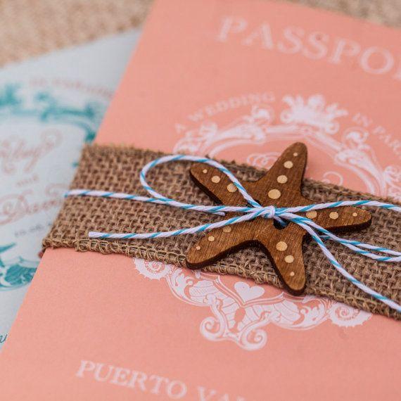 Vintage tropical crest white ink passport wedding invitation puerto vintage tropical crest white ink passport wedding invitation puerto vallarta mexico design stopboris Gallery
