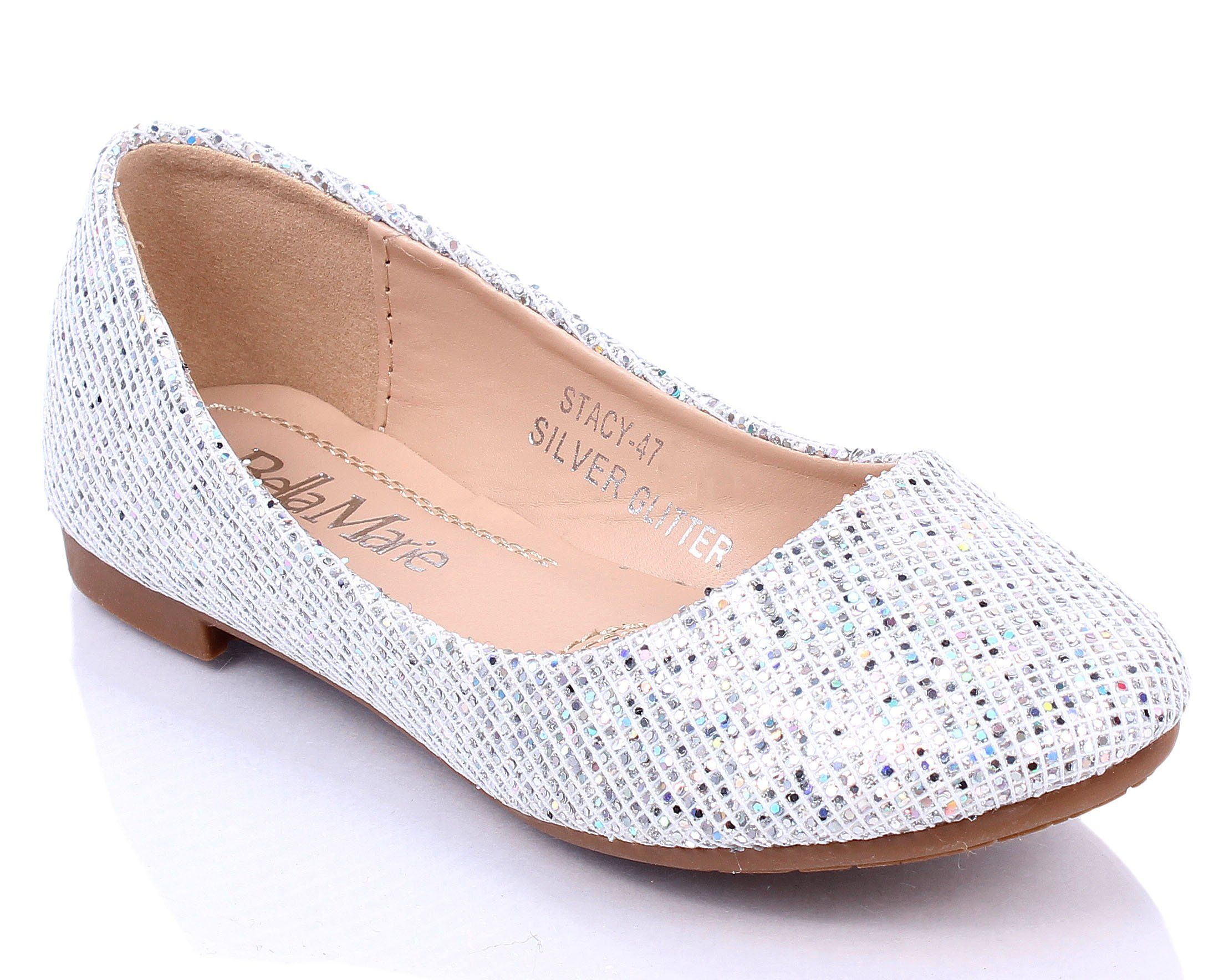 Fashion Round Toe Causal Sexy Padded Glitter Womens Easy Silp on Flats Shoes New Without Box