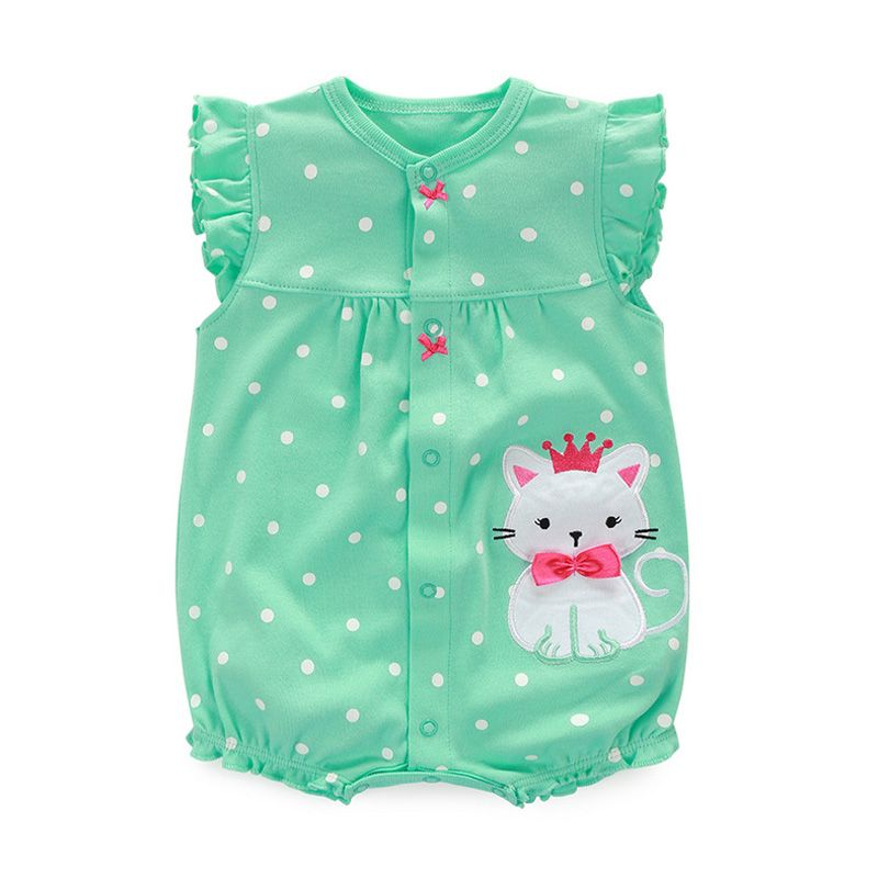 fbff1f82af74 2017 Baby Rompers Summer Baby Girl Clothes Cartoon Newborn Baby Clothes  Roupas Infant Jumpsuits Baby Girl Clothing Set