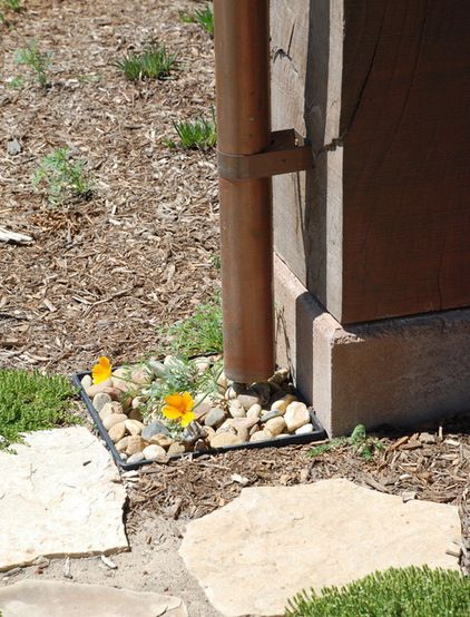 High Design For The Downspout Downspout French Drain Splash Blocks