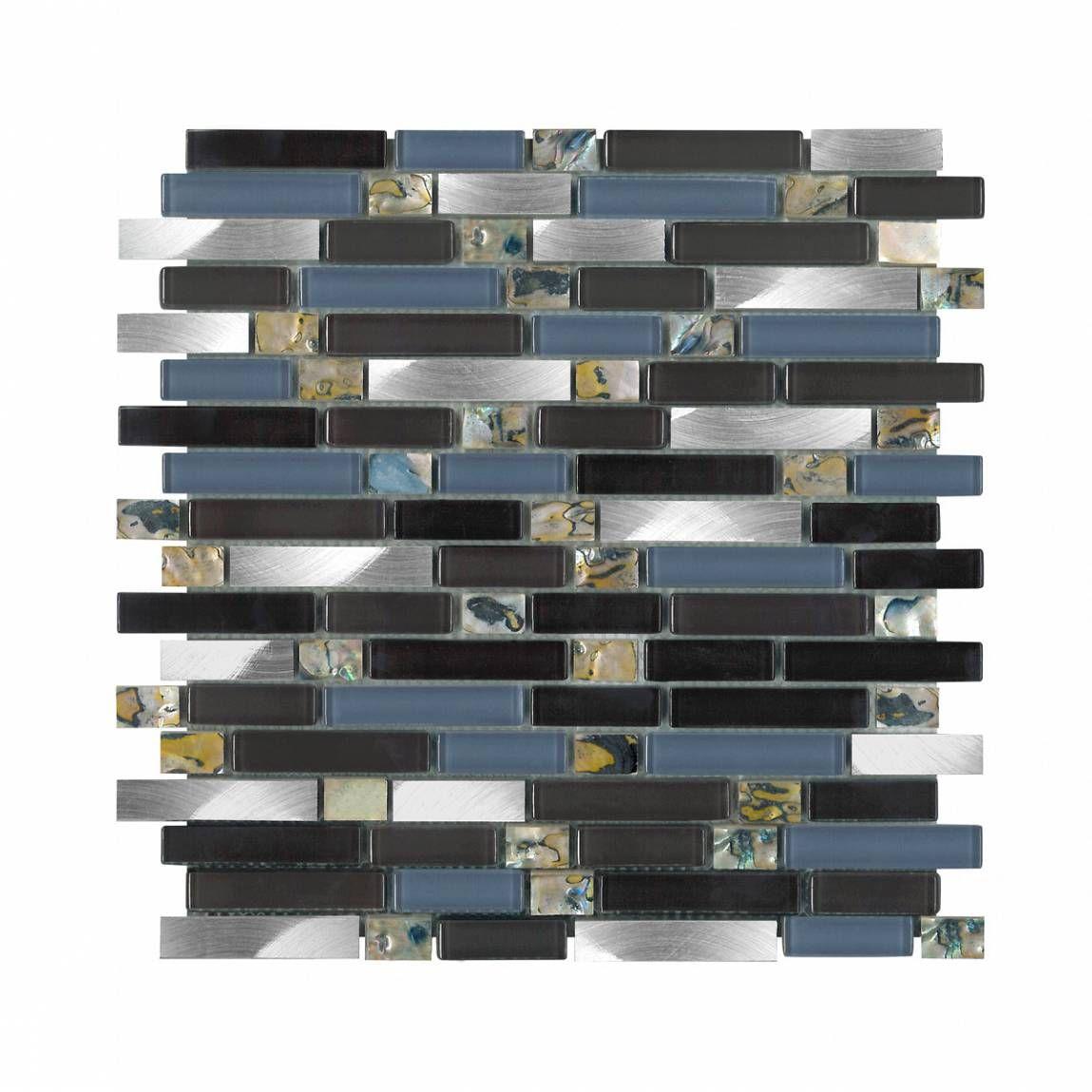 Stella Glass and Metal Mosaic Tile 30.5cm x 30.5cm - Victoria ...