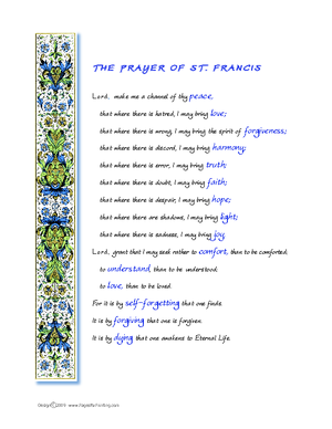 picture relating to St Francis Prayer Printable identify St. Francis Prayer Printable - Bing Pics Prayer Saint