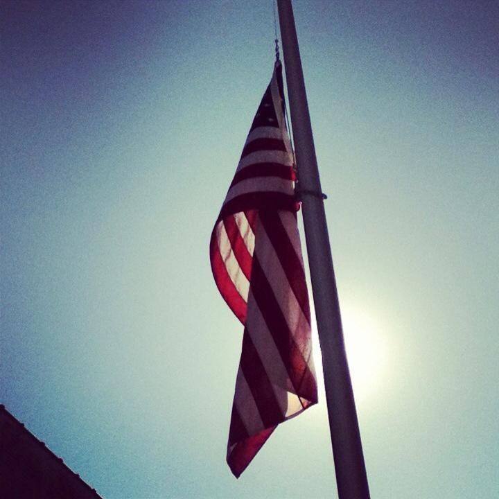 American Flag In Down Town Aurora Illinois Tracy S Home Town American Flag American God Bless America