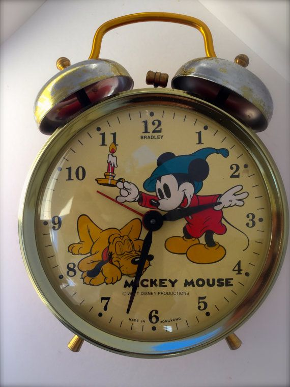 Vintage Rare Mickey Mouse Alarm Clock