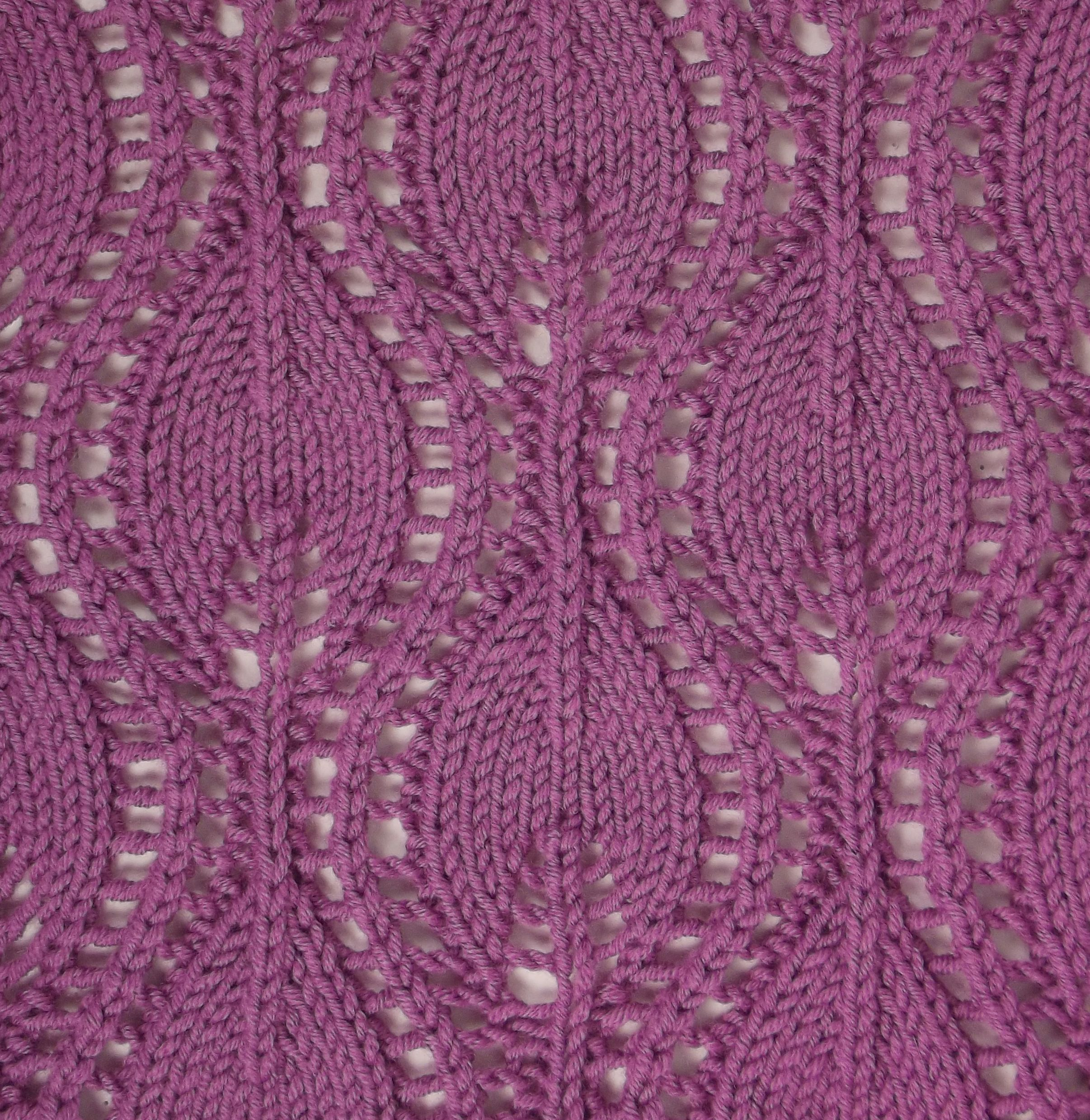 Lace Knitting Pattern Library : Ogee Lace II differs a lot from the traditional Ogee Lace ...