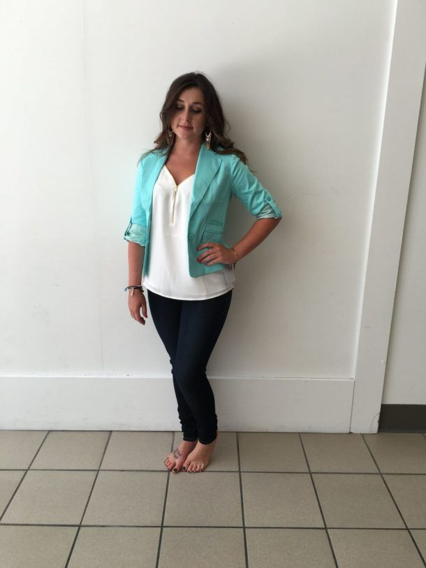 Empower Yourself with this great look. You will stand out for your next presentation or workday. Pair a denim and a basic top for a more casual look. Either way you are bound to stand out and make a statement.