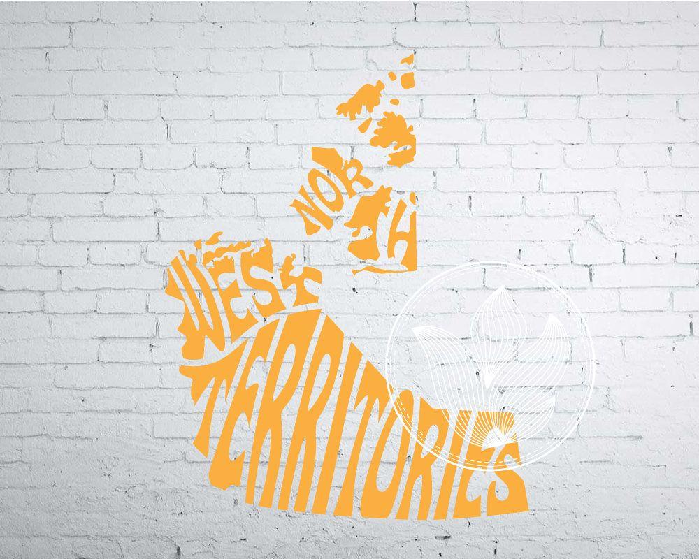 Digital Northwest Territories Word Art, NW Territories jpg, png, eps ...