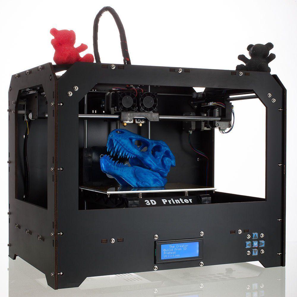 New Desktop 3D Printer Dual Extruder 3d Printers (Black) | 3D ...