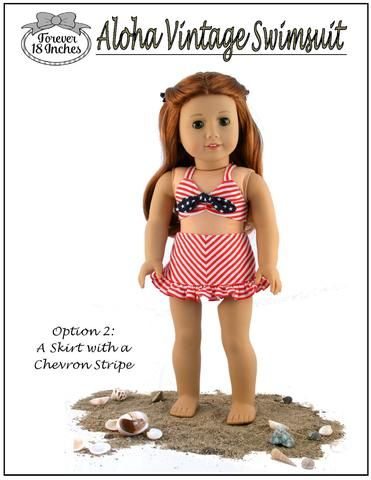 3de54876d1 Forever 18 Inches Aloha Vintage Swimsuit Doll Clothes Pattern 18 inch  American Girl Dolls